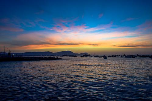 callao pacific port ocean island sky dawn atardecer peru lima sea
