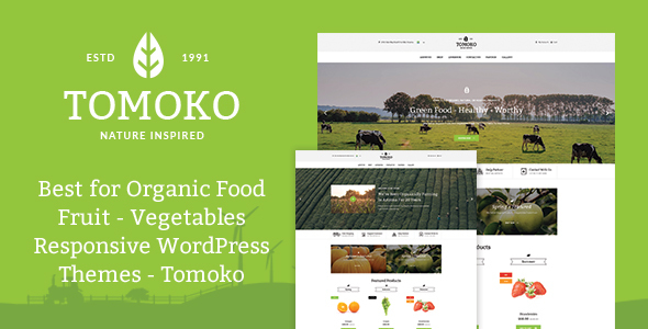Tomoko v1.0 - Organic Food/Fruit/Vegetables Theme