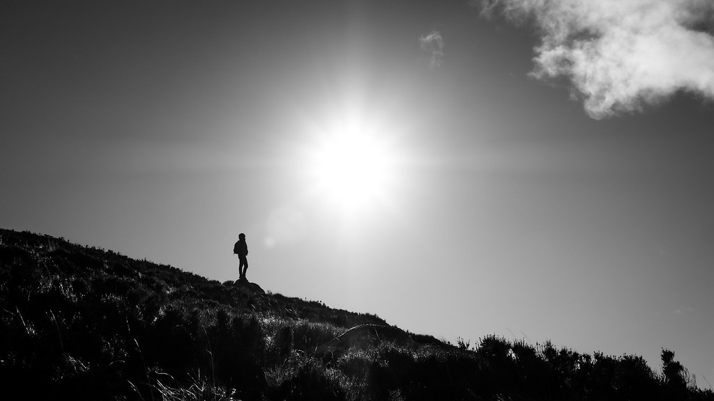 The backpacker - Wicklow, Ireland - Black and white street photography