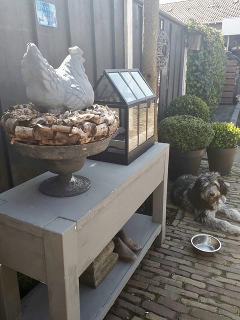 Tuin side table landelijke stijl