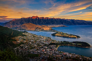 Last light on the Remarkables