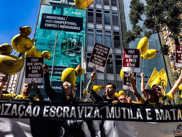 De acordo com estimativas da organização, 200 mil pessoas participaram de mobilizações em todo o estado - Créditos: Gibran Mendes