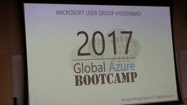 Hyderabad Global Azure Bootcamp 2017