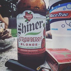 Good to be back in the land of the Shiner.  #texas #texanwoman #shiner #poteet #strawberryblonde