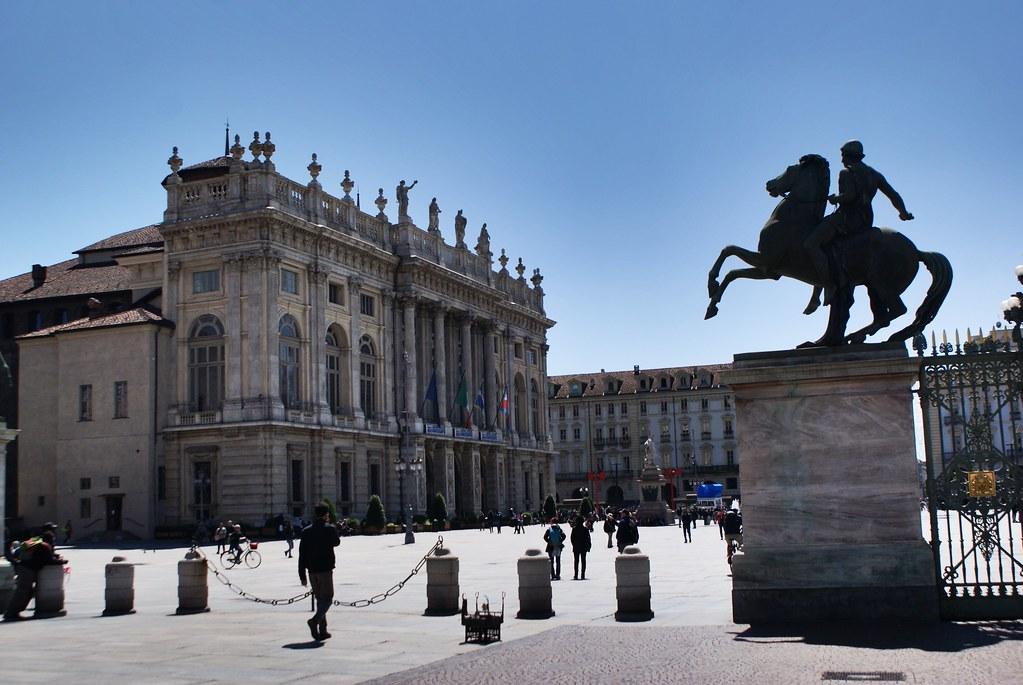 Palais Madame sur le Piazza Castello dans la Vieille Ville de Turin.
