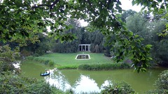 The West Pond & Colonnade from Under the Beech Tree