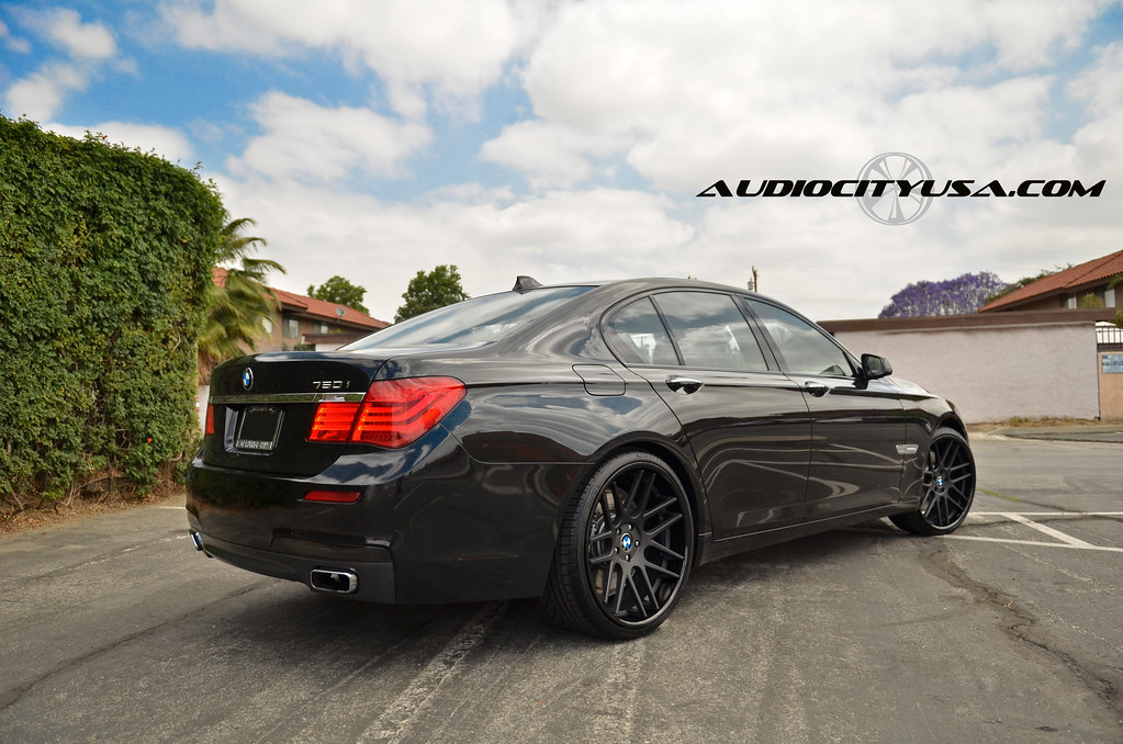 22quot Gianelle Yerevan Matte Black Face Glossy Lip On 2011 BMW 750 By AUDIO CITY WHEELS Flickr