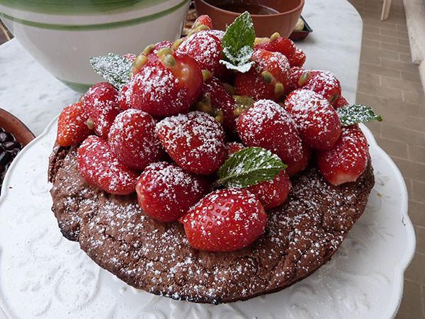 torta caprese aux fraises