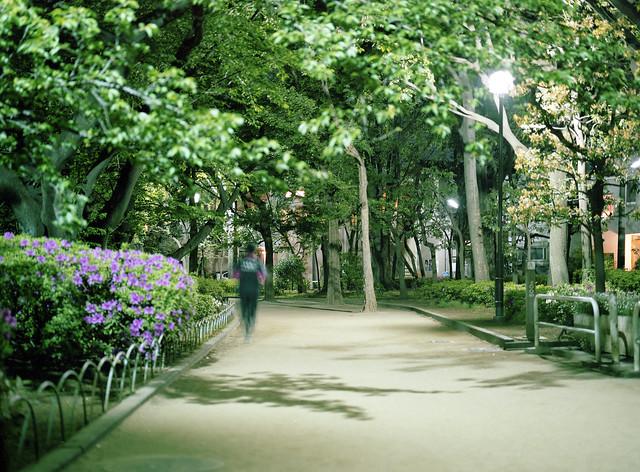 深夜のジョギング