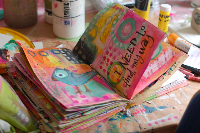 Art Journal: Making a happy mess