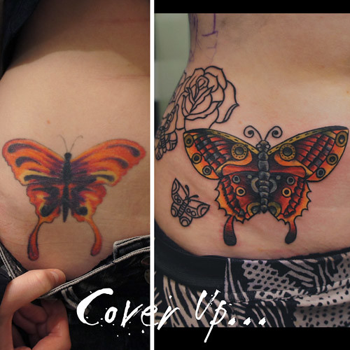 Butterfly cover up re work tattoo a photo on flickriver for How to cover up tattoos for work