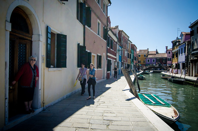There are no cars on Burano, just walkable lanes and canals.