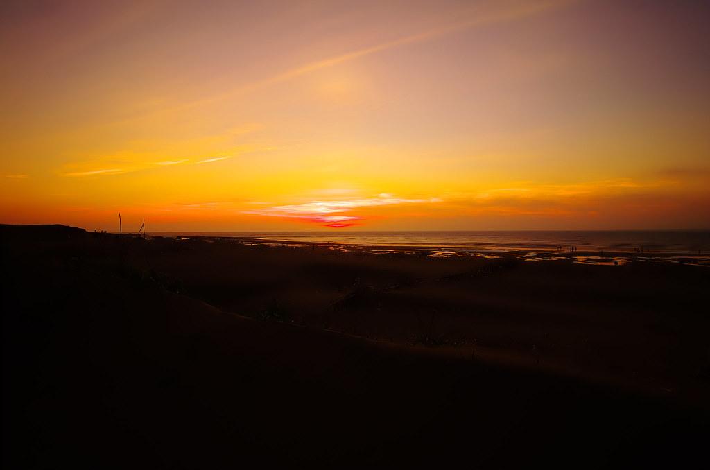 跟太陽對幹跟一張夕陽