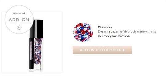 Julep July Featured Add-On Fireworks