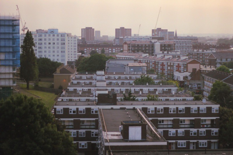 hackney rooftop view