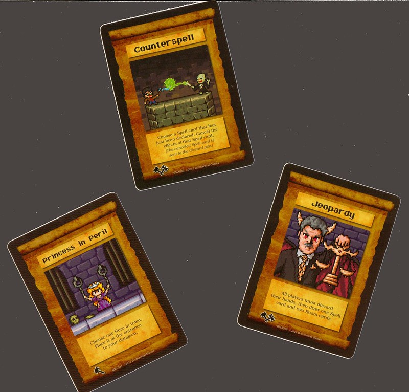 Brotherwise Games Boss Monster Spell cards