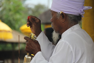 Priest in action