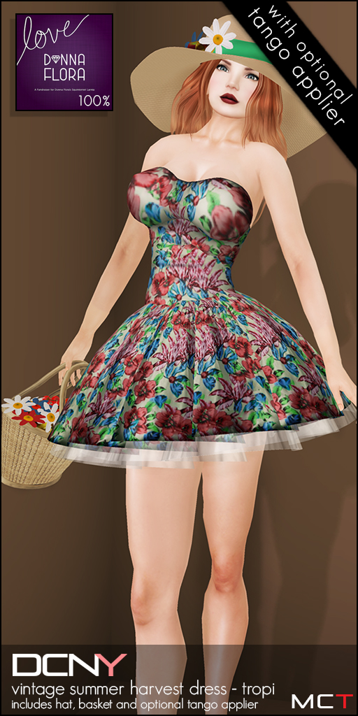 DCNY Vintage Summer Harvest Dress (Tropi)