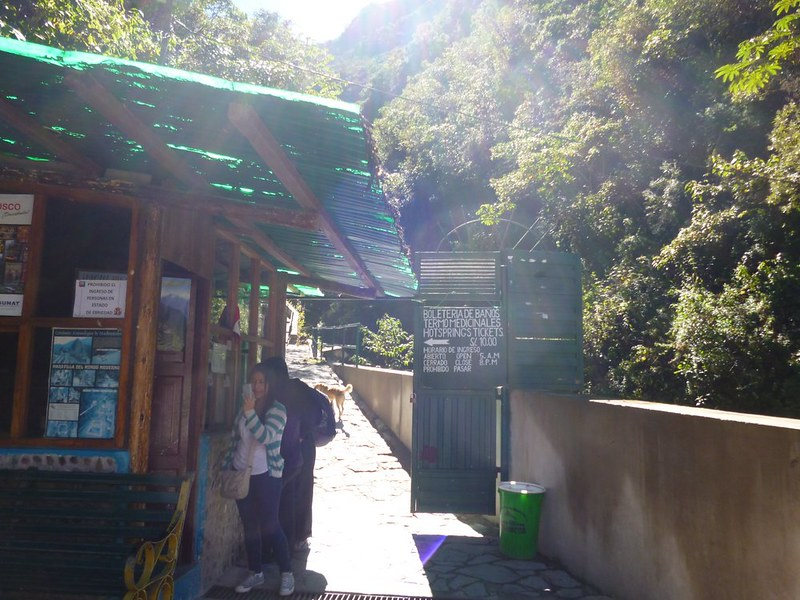Ticket counter for Aguas Calientes hot springs