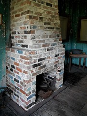 floor, wall, masonry oven, wood, fireplace, iron, brick, flooring, brickwork, hearth,