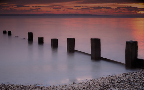 sunset sea england beach nikon long exposure hampshire solent geoffrey radcliffe defence hillhead d700 lightroom5