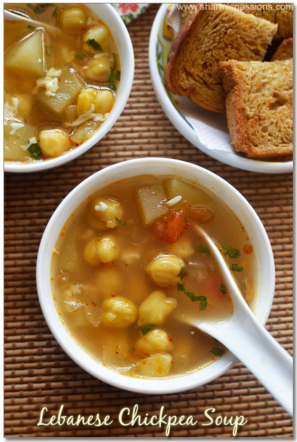 Chickpea Soup Recipe - Lebanese Style