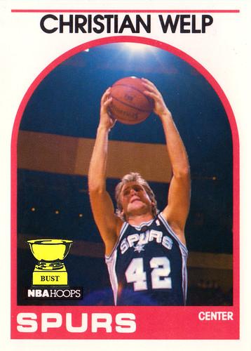 Baseball Card Bust Christian Welp 1989 90 Nba Hoops Return Of