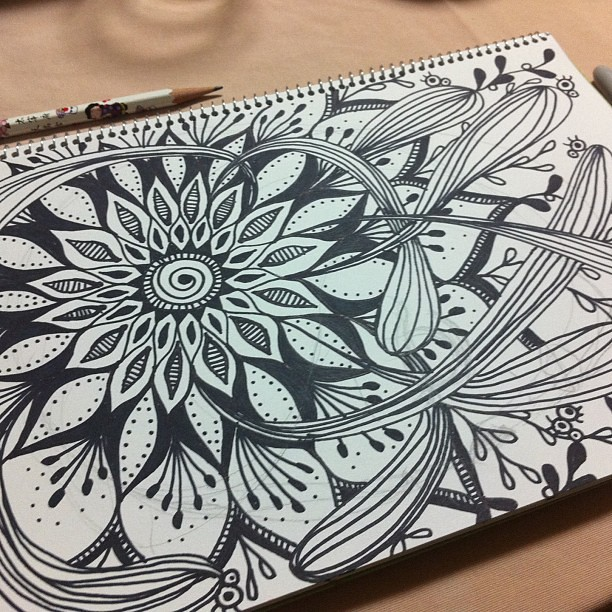 After dinner doodling  #artjournal #doodle #sharpie