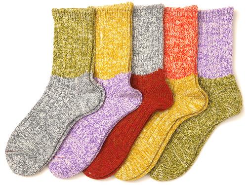 Mauna Kea / Long Socks エスカレーション杢切り替え