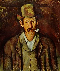 Painting of man smoking pipe