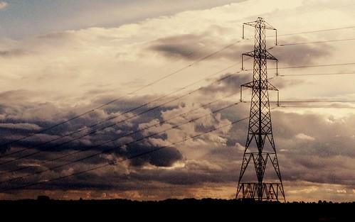 sunset landscape industrial sunday pylon iphoneography