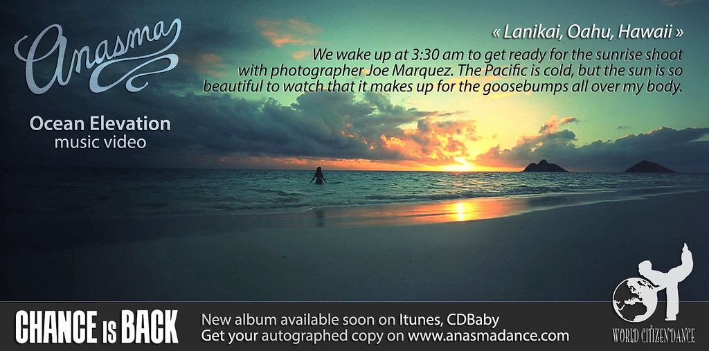 Anasma Music Video Ocean elevation teaser photo 1 Lanikai sunrise