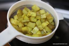 Raw banana curry