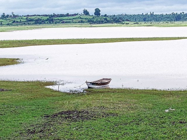 Most of the agricultural land in Patha has been submerged due to the Bargi dam backwaters