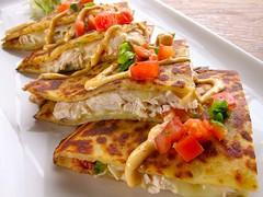 fish(0.0), produce(0.0), meal(1.0), breakfast(1.0), food(1.0), dish(1.0), quesadilla(1.0), cuisine(1.0),