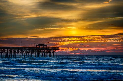 sunrise myrtlebeach day cloudy 2ndavenuepier