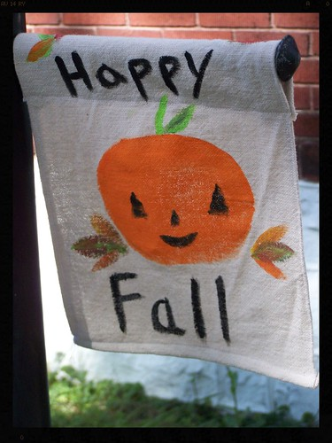 Little Pumpkin Flag by Emilyannamarie