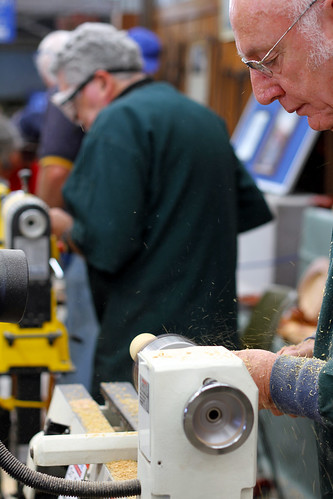 Perth Royal Show 2013 - Lathe and Man