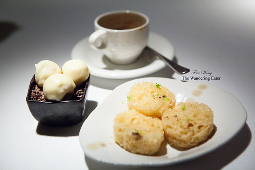Petit fours with espresso