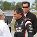 Juan Pablo Montoya all smiles after his first laps at Sebring for Team Penske