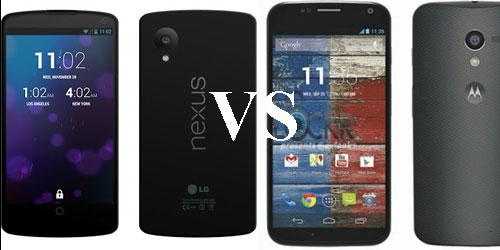 Google Nexus 5 vs. Moto X