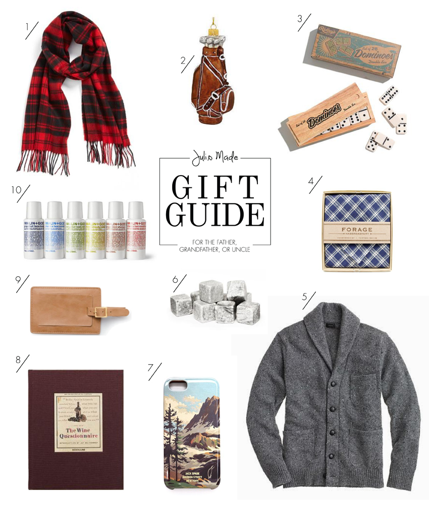 Julip Made 2013 holiday gift guide father grandfather uncle
