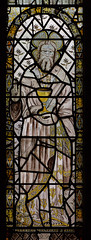 Atcham, Shropshire, St. Eata's church, east window, God