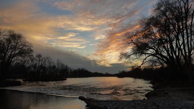 Luminous River Sunset