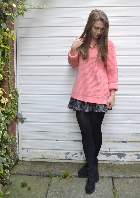 pink jumper and skirt 2