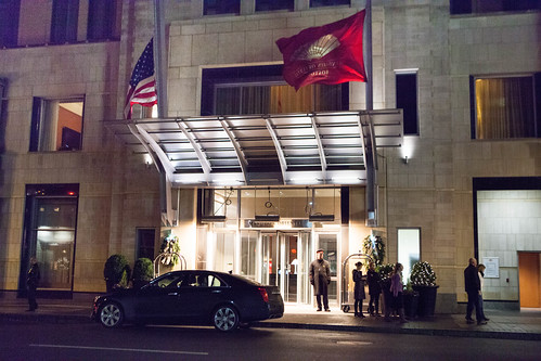 Mandarin Oriental Boston at night