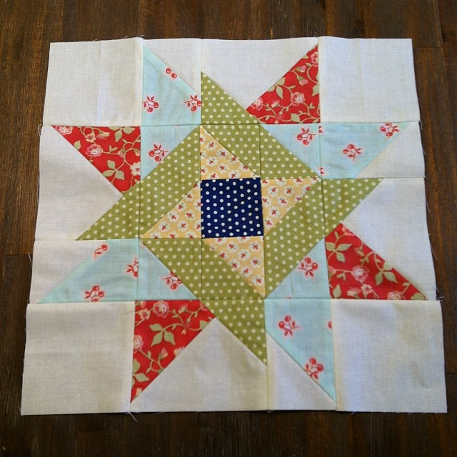 May as we'll keep going! @fatquartershop #mysterybom block by @katespain