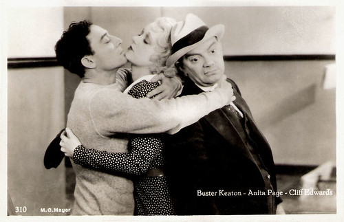 Buster Keaton, Anita Page and Cliff Edwards in Sidewalks of New York (1931)