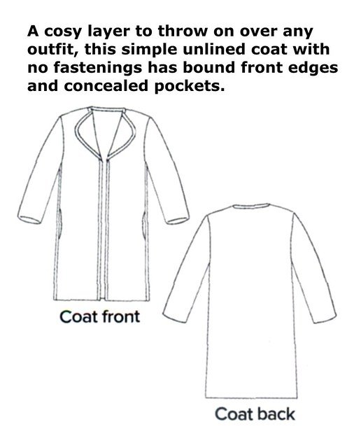 Simple Coat Sewing Patterns - Gray Cardigan Sweater