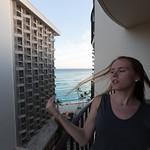Emily twirling, Waikiki